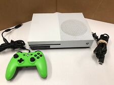 Microsoft Xbox One S 500GB White Console 1681 w/ wired controller TESTED WORKING