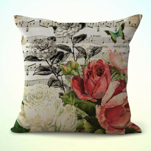 set of 2 music notes rose flower replacement chair cushions indoor
