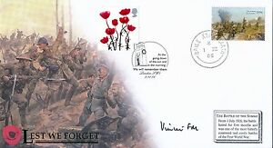 Buckingham's First Day Cover 2006, Lest We Forget Signed by FM Vincent