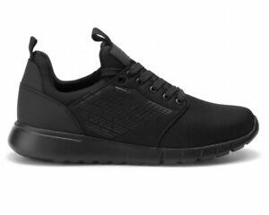 Emporio-Armani-X8X007-XCC02-EA7-Mesh-Sneaker-Uomo-Nero-Scarpe-Da-Ginnastica