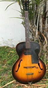 Gibson-ES-125-1950-60-Vintage-Hollow-Body-Electric-Guitar-with-Original-Case