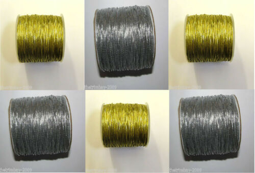 Round Silver /& Gold 1mm Elastic