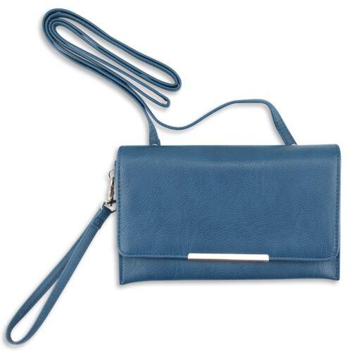 Wristlet New Women/'s Wallet Clutch In Solid Colors Keeps Organized Crossbody