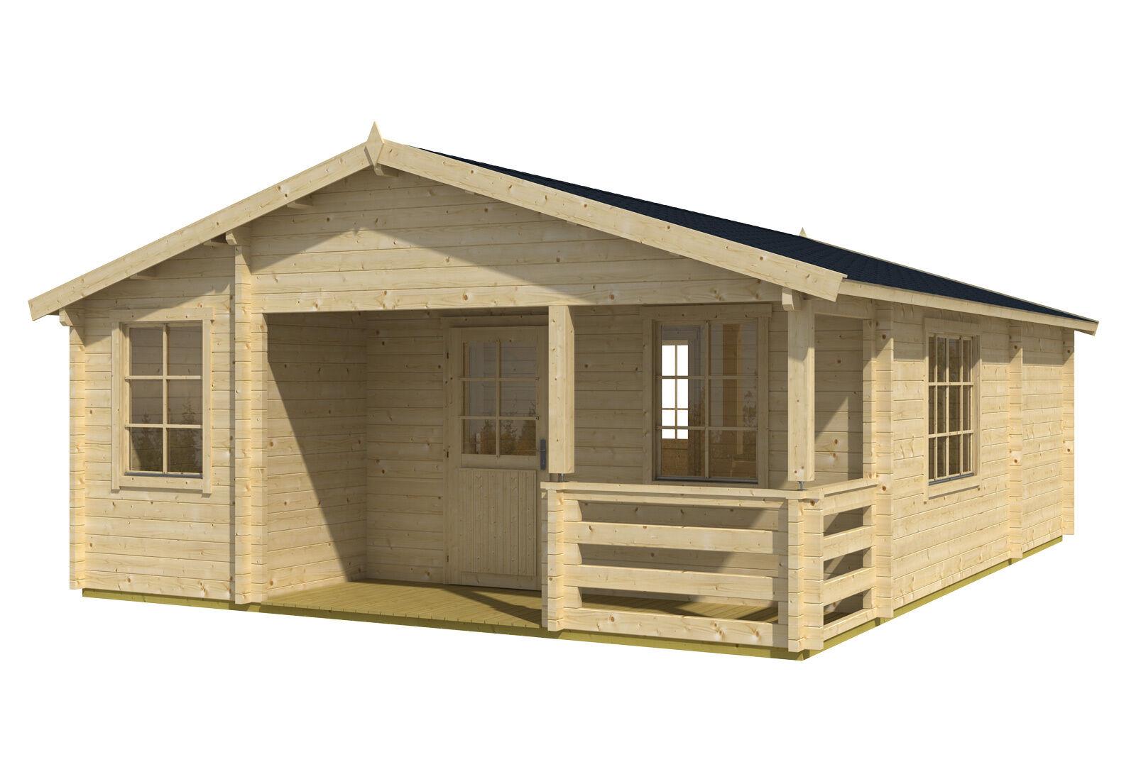 70 mm ferienhaus 595x795 cm terrasse gartenhaus blockhaus holzhaus holz neu ebay. Black Bedroom Furniture Sets. Home Design Ideas