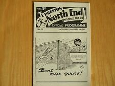 Preston North End V Sheffield Wednesday-FAC ronda 3rd - 5th 1957 de enero
