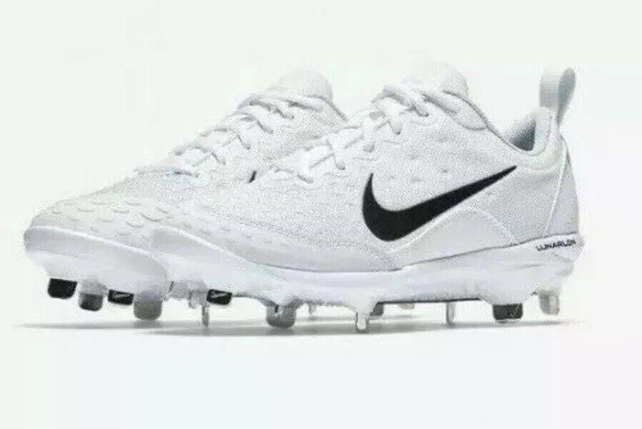 NEW Nike Sz 6 Lunar Hyperdiamond 2 Pro Women's Softball Cleats 856492 104 Whit