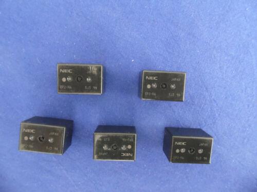 5 Stück Twin-Relais 25 Ampere  NEC EP2-N6 12 Volt 2 x Wechsler