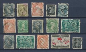 CANADA-Lot-of-15-very-old-Stamps-Good-used-stamps-High-CV-400-A2066
