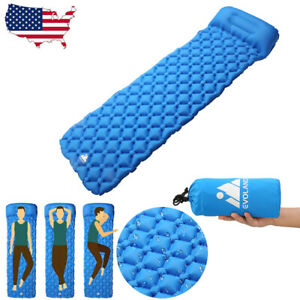 Self-Inflating-Mat-Outdoor-Tent-Sleeping-Pad-Hiking-Pillow-Air-Mattress-Camping