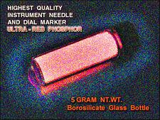 ULTRA-RED Europium Oxide Activated Phosphor FULL 5gms in Borosilicate Vial