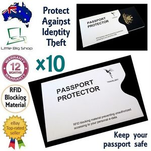 367d33bc7fbb Details about 10 x New Passport Protector RFID Blocking Security Sleeve  Anti-Theft Defender