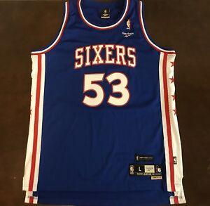 new product 8a27c 74a94 Details about Rare Reebok Hardwood Classics NBA Philadelphia Sixers Darryl  Dawkins Jersey