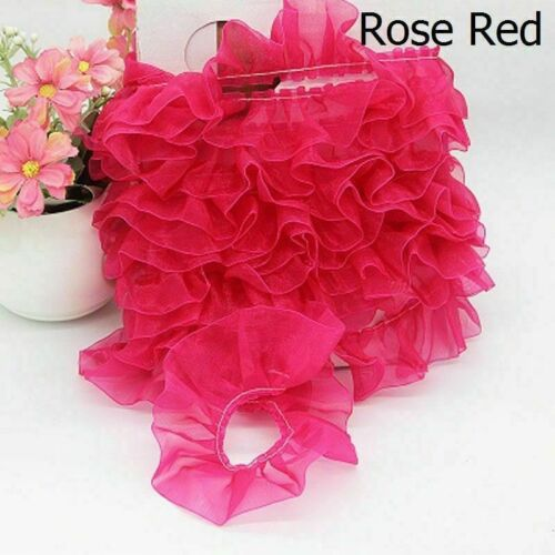 15 Meters Chiffon Pleated Ruffle Ribbon DIY Sewing Dress Doll Cloth Decor Trim