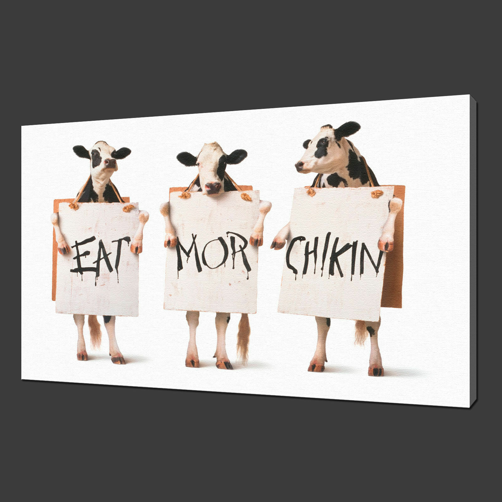 FUNKY COWS CANVAS PRINT PICTURE WALL ART FREE UK DELIVERY VARIETY OF GrößeS