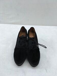 Derek-Lam-Black-Platform-Wedge-Heel-Size-7M-F1926-MY