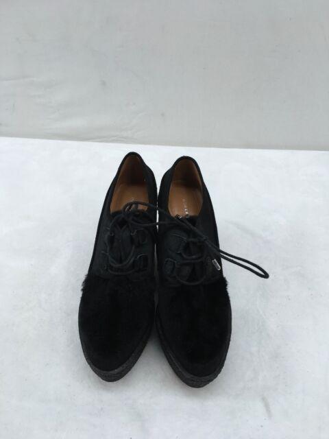 Derek Lam Black Platform Wedge Heel Size 7M  F1926 MY/
