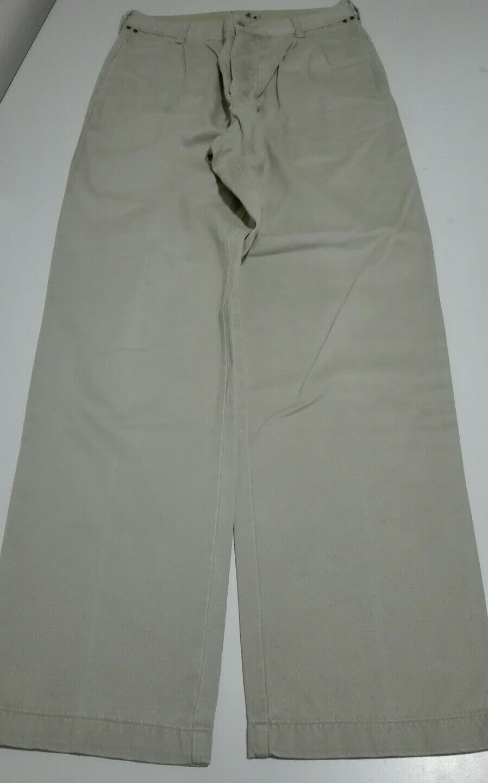 AVIREX RUNWAY - chinos chinos - - 31 - 100% cotone - beige / kaki - pinces - originali 4e74dc