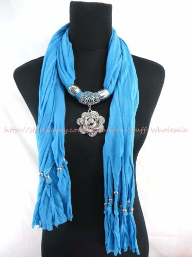US SELLER-lot of 6 pendant scarf necklace wholesale women gift
