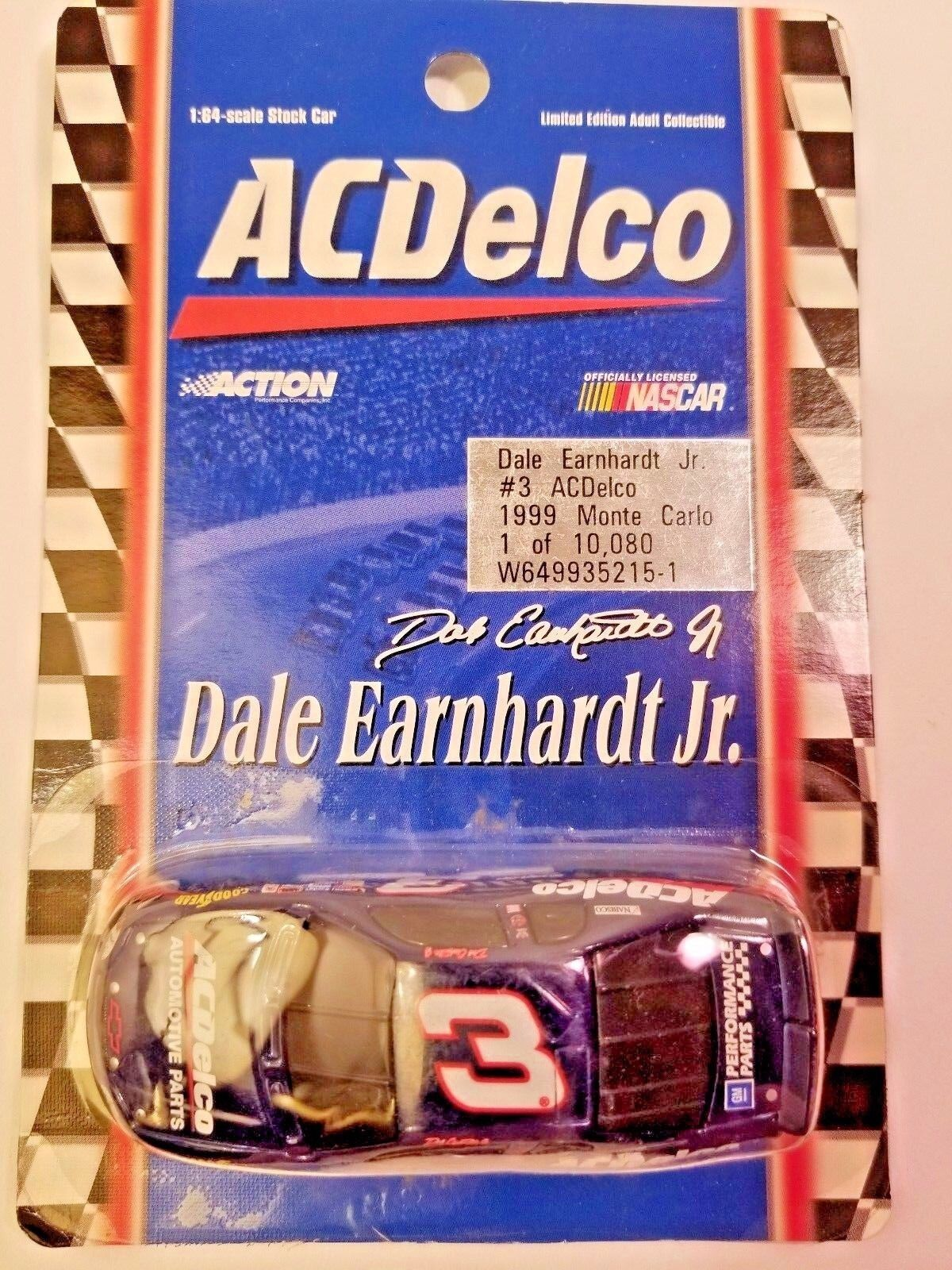 ACTION RCCA 1/32 DALE EARNHARDT CARLO JR  3 1998 MONTE CARLO EARNHARDT ACDelco NASCAR DIECAST c526cb