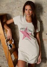 Uncle Sam Sleepshirt Stars Nightshirt Nachthemd Print Beige meliert Neu 40/42