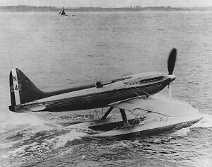 OLD-LARGE-PHOTO-AVIATION-HISTORY-Supermarine-S-6-Racing-Seaplane-1930