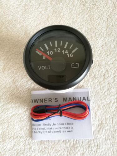 """Water Temperature,Volt,oil pressure,12V,Red LED 2/""""//52mm 4 Gauge set Fuel Level"""
