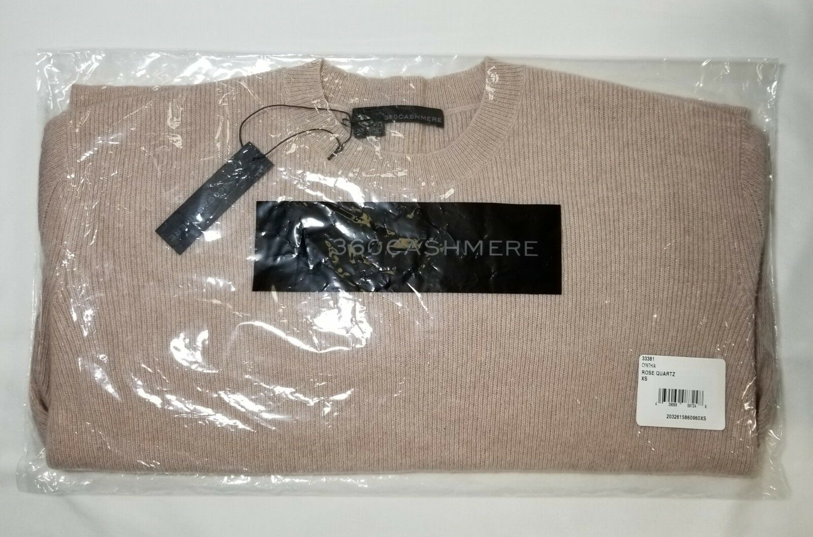 NWT 360 Cashmere Cynthia Ribbed Knit Cashmere Sweater Sweater Sweater pink Size XS,S,M  288 87550b