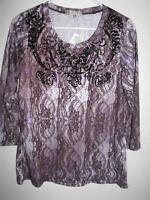 Vintage Suzie Petites Women's 3/4 Sleeve Blouse Large