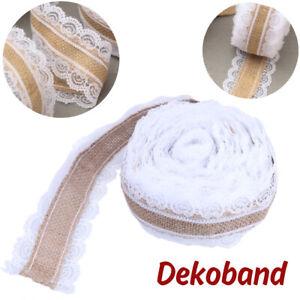 10M-Sackleinen-Hessischen-Ribbon-Juteband-Naturband-Dekoband-mit-Spitze-Hochzeit