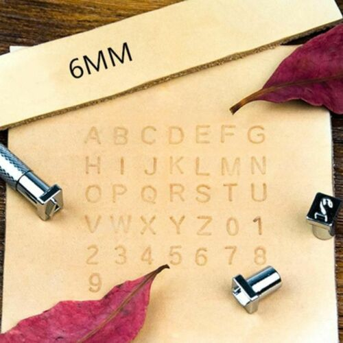 Lettre en cuir STAMPER SET Metal Alphabet Nombre De Perforation Outils 3mm//6mm 36Pcs