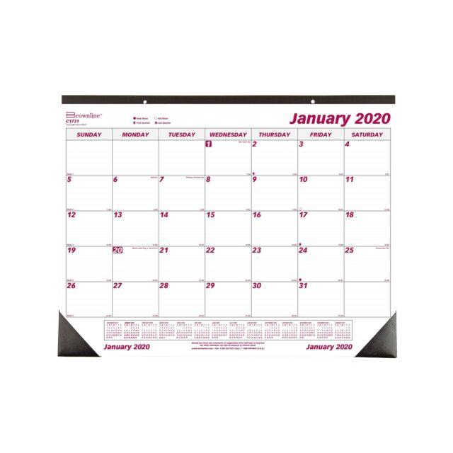 Brownline 2020 Monthly Desk Pad Calendar 22 x 17 Inches (C1731-20) 14.9 Oz