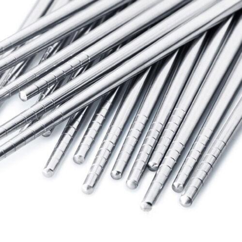 New Design Light Weight Metal Chinese Non-slip Stainless Steel Chopsticks