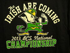 NOTRE DAME ~ Large ~ NWT ~ The IRISH Are COMING ~2013 BCS National Champ T Shirt