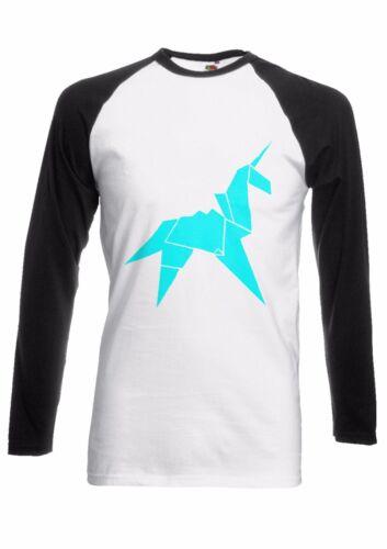 Origami Unicorn Blade Runner Men Women Long Short Sleeve Baseball T Shirt 1683