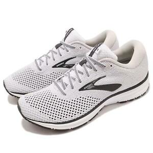 b7a07591a0906 Brooks Revel 2 White Grey Black Men Running Training Shoes Sneakers ...