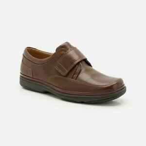 Détails sur Nouveau Clarks homme en cuir Marron Clair Chaussures SWIFT Extra Large Taille UK 10.5 Casual afficher le titre d'origine