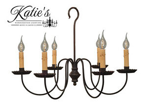 Details About Wil Chandelier By Katie S Handcrafted Lighting Primitive Colonial New