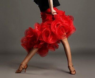2016 NEW Latin salsa Tango Flamenco Waltz Ballroom Dance Dress #GB019 Skirt