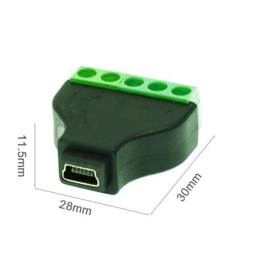 Mini USB male to terminal block USB plug connector MINI USB Type-A Adapter