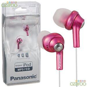 Panasonic-In-Ear-Earphones-Headphones-for-iPod-iPhone-CD-MP3-Pink-RP-HJE270EP