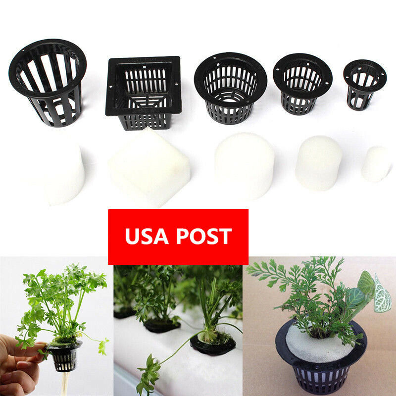 Clone Cloning Collar Foam Insert Hydroponic Aeroponic 5-10 Mesh Pot Net Basket