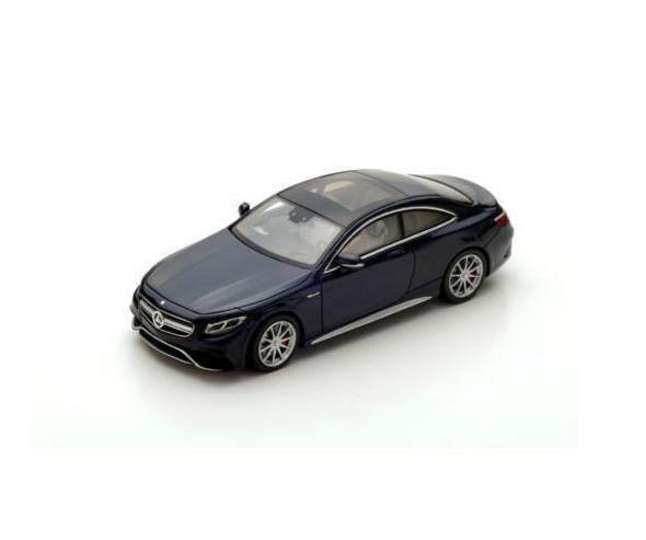 Mercedes BENZ AMG S 63 Coupe 2016 Oscuro Azul S4918 Spark 1 43 nuevo en una caja