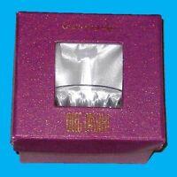 Oleg Cassini Crystal Glass Round Jewelry Ring Holder Organizer W/ Original Box