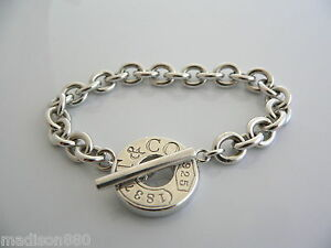 Image Is Loading Tiffany Amp Co Silver 1837 Circle Toggle Clasp