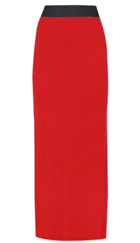 New Ladies  Long Jersey Boho Maxi Stretch Skirts 8-26