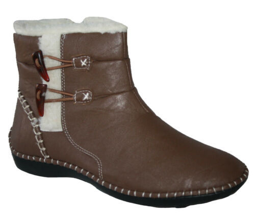 LADIES DR KELLER BROWN ANKLE BOOT WITH INSIDE ZIP TOGGLE DETAIL SIZE UK 4 X 8/'s
