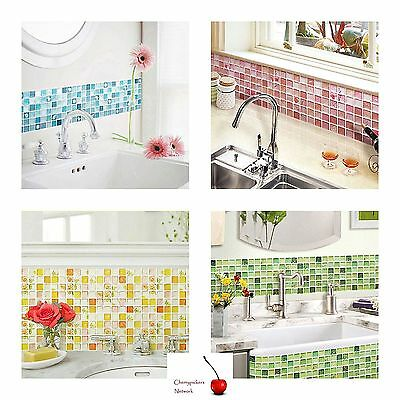 Home Bathroom Kitchen 3d Wall Decor Sticker Wallpaper Tile Peel