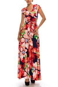 NEW Beautiful Janette Full Length Maxi Wrap Burgundy Dress