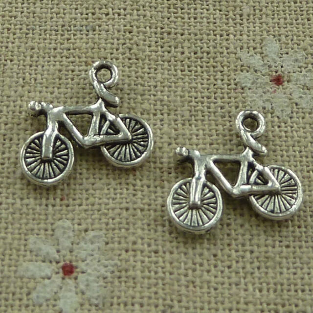 free ship 90 pieces  tibetan silver motorcycle charms 25x14mm #4279
