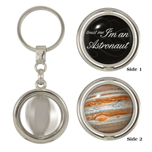 Trust Me I/'m An Astronaut /& Jupiter Spinning Keyring nasa space ISS apollo NEW
